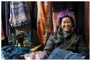 black hmong woman market